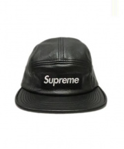 Supreme(シュプリーム)の古着「Leather camp cap」|ブラック