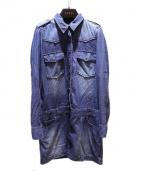 GUCCI(グッチ)の古着「デニムワンピース」 ブルー