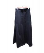 Yohji Yamamoto(ヨウジヤマモト)の古着「ロングスカート」|ブラック