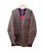 whiz limited(ウィズリミテッド)の古着「ノーカラーオイルドジャケット」|グリーン