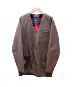 whiz limited(ウィズリミテッド)の古着「ノーカラーオイルドジャケット」 グリーン