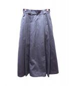 DANTON(ダントン)の古着「タックロングスカート」|グレー