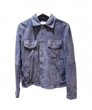 EMMETI(エンメティ)の古着「スウェードシャツ」|ネイビー
