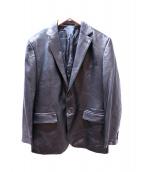 五大陸(ゴタイリク)の古着「ラムレザーテーラードジャケット」 ブラック