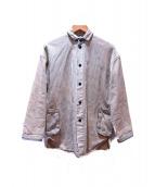 PORTER CLASSIC(ポーター クラシック)の古着「ストライプカバーオール」|アイボリー