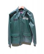 ROTAR(ロータ)の古着「レザージャケット」 グリーン