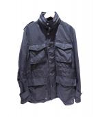 COMME des GARCONS HOMME(コムデギャルソンオム)の古着「ミリタリージャケット」|ブラック