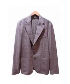massimo Dutti(マッシモドゥッティ)の古着「テーラードジャケット」|ブラウン