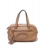 LOEWE(ロエベ)の古着「タッセルハンドバッグ」|ベージュ