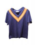 NEON SIGN(ネオンサイン)の古着「チルデンTシャツ」|ネイビー