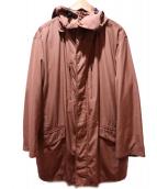 SANYO(サンヨー)の古着「フーデッドコート」|ブラウン