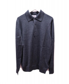 MONCLER(モンクレール)の古着「ニットポロシャツ」|グレー