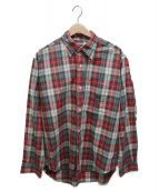 stussy(ステューシ-)の古着「オーバーサイズシャツ」|レッド