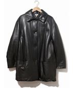 HERMES(エルメス)の古着「ラムレザー中綿コート」|ブラック