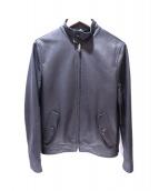 LOEWE(ロエベ)の古着「ラムレザーシングルライダースジャケット」|ブラック