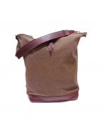 arts&crafts(アーツアンドクラフト)の古着「AGING CANVAS ONE STRAP CARRY A」 オリーブ