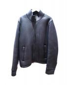 NEIL BARRETT(ニールバレット)の古着「ニットライナーレザージャケット」