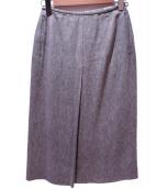 HERMES(エルメス)の古着「リネンロングスカート」|ブラウン