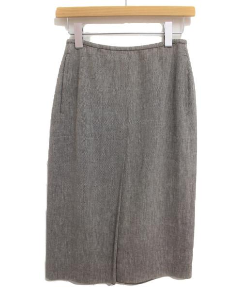 HERMES(エルメス)HERMES (エルメス) リネンロングスカート ブラウン サイズ:34 マルジェラ期の古着・服飾アイテム