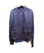 YAMANE(ヤマネ)の古着「デニム切替ジップアップジャケット」