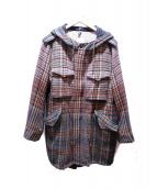 ts(s)(ティーエスエス)の古着「ウールフーテッドコート」 グリーン