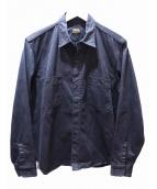 TENDERLOIN(テンダーロイン)の古着「ミリタリーシャツ」|ブラック