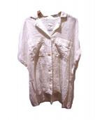 The Virgnia(ザヴァージニア)の古着「リネンオープンカラーシャツ」|ホワイト