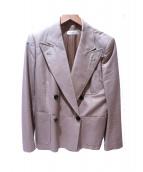 DRIES VAN NOTEN(ドリスヴァンノッテン)の古着「ダブルブレストジャケット」|ベージュ