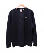 Supreme×LACOSTE(シュプリーム×ラコステ)の古着「crewneck sweatshirt」|ブラック