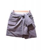ALEXANDER WANG(アレキサンダーワン)の古着「再構築スカート」 グレー