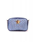 STELLA McCARTNEY(ステラ マッカートニー)の古着「スターチェーンデニムショルダーバッグ」|ブルー
