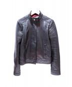 GUCCI(グッチ)の古着「ラムスキンレザージャケット」|ブラック