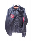 ALPHA(アルファ)の古着「コーチジャケット」 ブラック