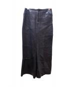 JUNYA WATANABE COMME des GARCONS(ジュンヤワタナベ コムデギャルソン)の古着「ロングレザースカート」|ブラック