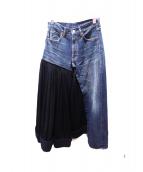 Yohji Yamamoto(ヨウジヤマモト)の古着「デニム再構築ロングスカート」
