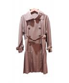 Lois CRAYON(ロイスクレヨン)の古着「バックプリーツトレンチコート」|ベージュ