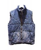 OMNIGOD(オムニゴッド)の古着「ユーズド加工デニムベスト」 ブルー