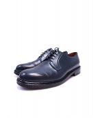 Jalan Sriwijaya(ジャラン スリウァヤ)の古着「Plain Toe Leather Shoes」 ネイビー