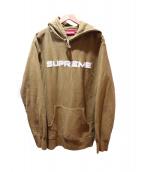 Supreme(シュプリーム)の古着「Sequin Logo Hooded Sweatshirt」|オリーブ