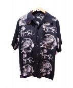 Allen&Hanson(アレンアンドハンソン)の古着「アロハシャツ」 ブラック