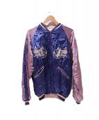 H.R.MARKET(ハリウッドランチマーケッド)の古着「スーベニアジャケット」|ピンク×ブルー