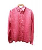 Frank & Eileen(フランクアンドアイリーン)の古着「リネンシャツ」 レッド