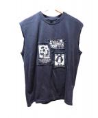 MISBIHV(ミスビヘイブ)の古着「ノースリーブTシャツ」|ブラック