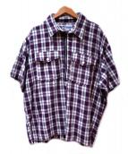 POST OALLS(ポストオーバーオールズ)の古着「ジッププルオーバーシャツ」 パープル
