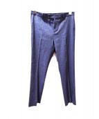 S Max Mara(エス マックスマーラ)の古着「リネン混トラウザーパンツ」|インディゴ