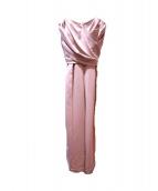 LAGUNA MOON(ラグナムーン)の古着「LADYクロスベアパンツドレス」|ピンク