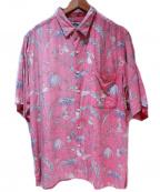 reyn spooner(レイン スプナー)の古着「80-90sアロハシャツ」 ピンク