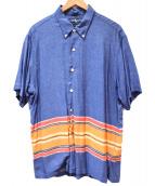 RALPH LAUREN(ラルフローレン)の古着「ヴィスコースシャツ」|ブルー