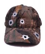 HERON PRESTON(ヘロン プレストン)の古着「CAMO LEAF TWILL CAP」|オリーブ