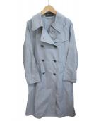 mizuiro-ind(ミズイロインド)の古着「Aライントレンチコート」|スカイブルー